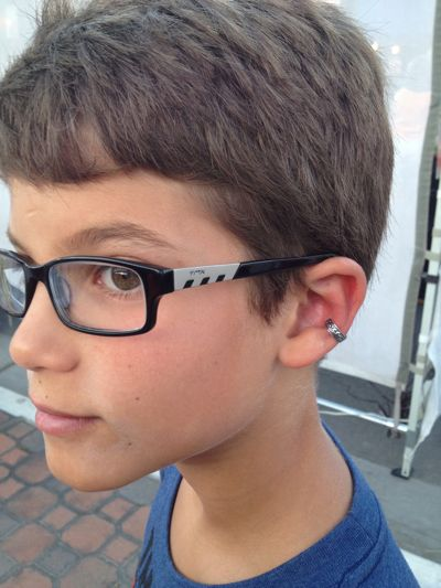 Why ear cuffs are better than earrings for my boy